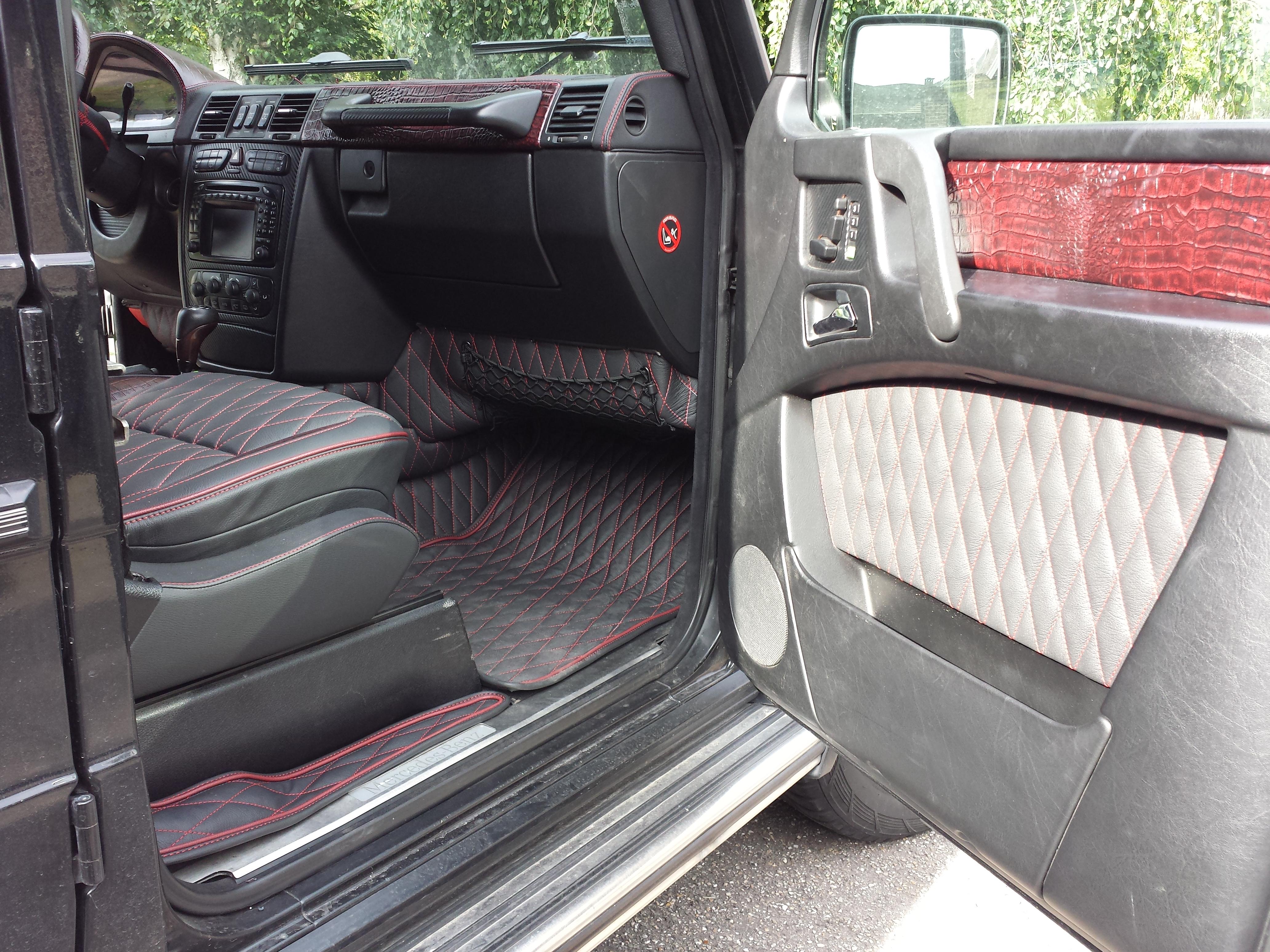 Corba design g wagon r r autobekleding for Interieur auto bekleden